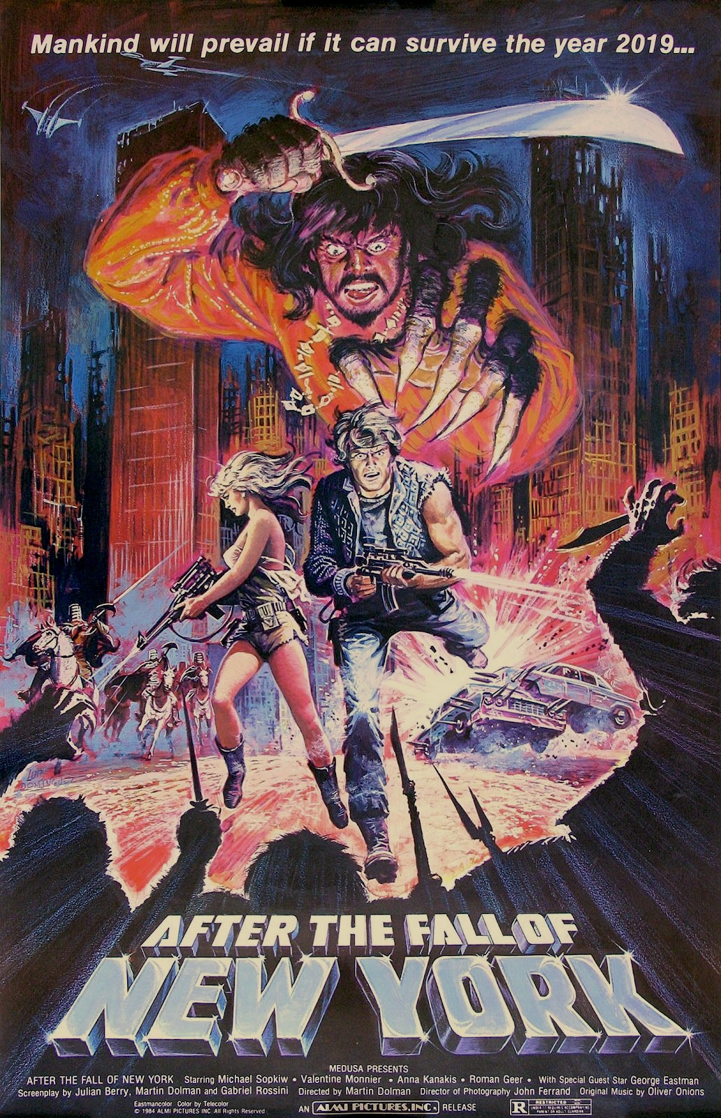 Orig 1984 Movie Poster 2019 After The Fall Of New York American