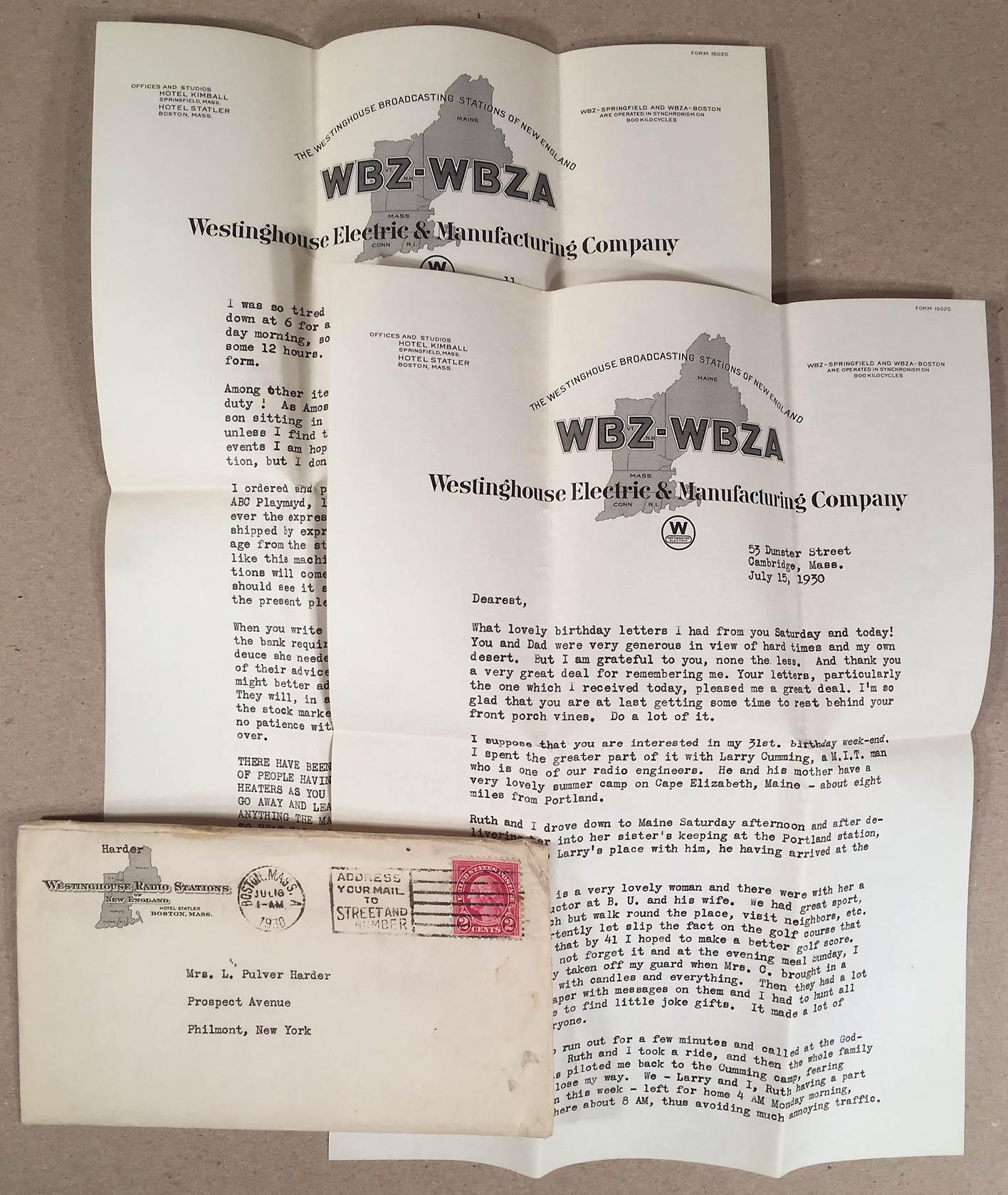 Boston Radio Stations >> Details About Boston Ma Rare 1930 Wbz Wbza Westinghouse Radio Stations Letterhead Envelope 2